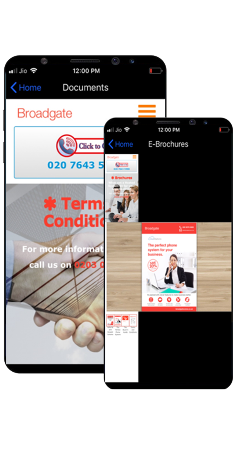 broadgate voice & data e-brochures
