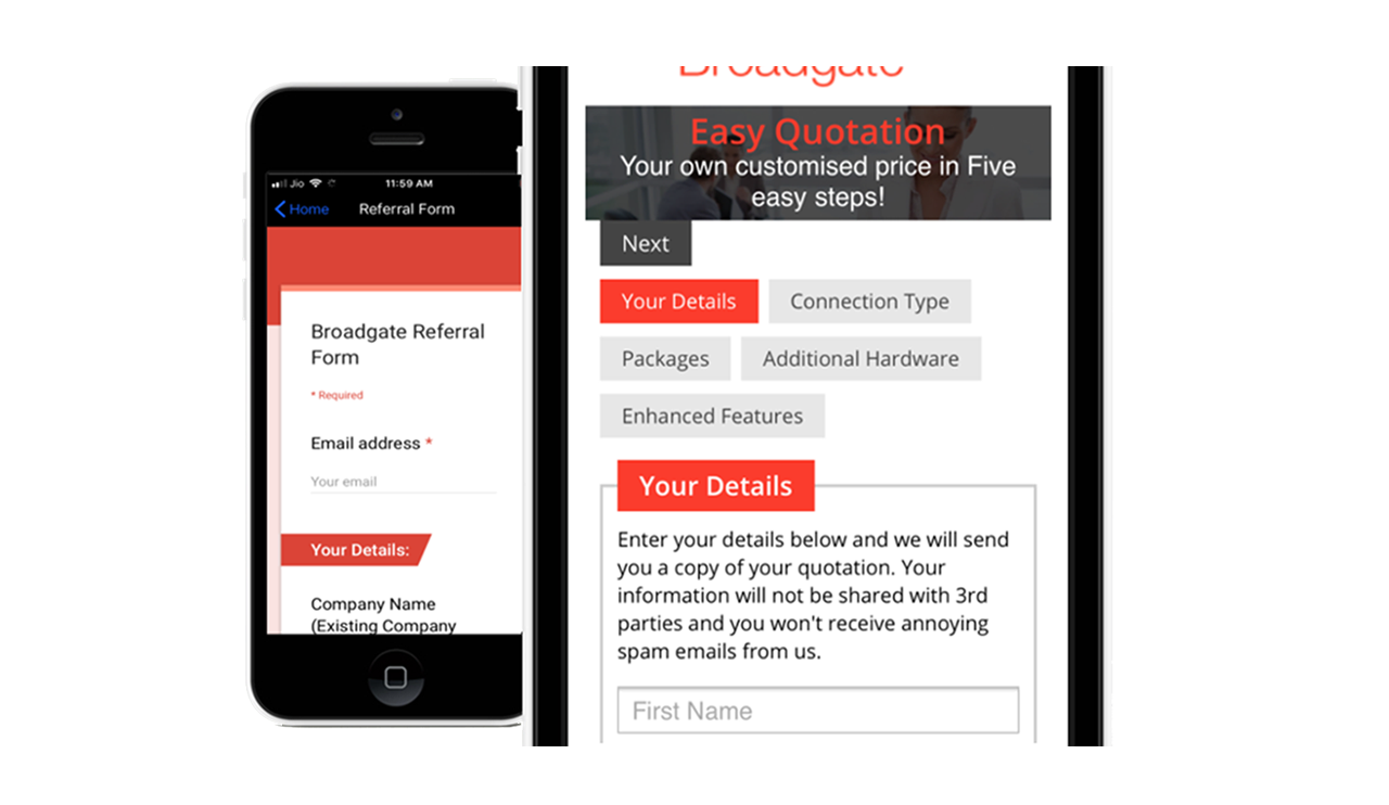 broadgate voice & data easy quotation
